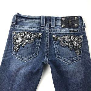 Miss Me Buckle Bootcut Jeans Embellished Pockets